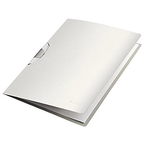 Leitz Cartellina ColorClip, Formato A4, Capacità fino a 40 fogli (80 gr/mq), Polipropilene, Nero Satin, Style, 41650094