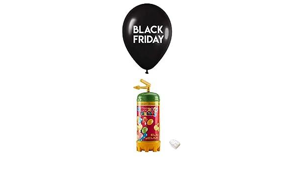 8 Globos Black Friday Latex 35cm con Bombona de Helio 0.15m3: Amazon.es: Juguetes y juegos