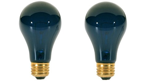 75 Watt A19 Incandescent Light Bulb, Black Light (2 Pack) - Blacklight Light Bulb