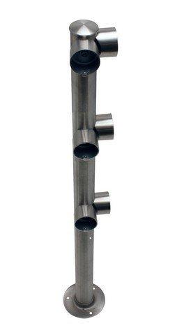 Lawrence Metal ADAPTARAIL-3L-7-44-COR-3S Adaptarail Triple Line 7 Flange 44 High Corner Satin Stainless