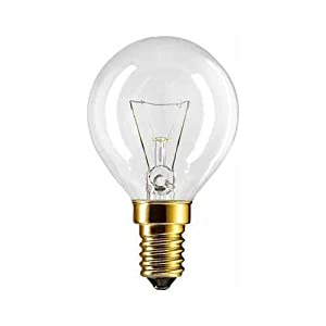 2 X Backofenlampe P45X78 40 Watt E14 klar - Philips