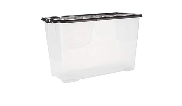 Home - Caja de Almacenamiento y Tapa (plástico, Curvada, 100 L ...