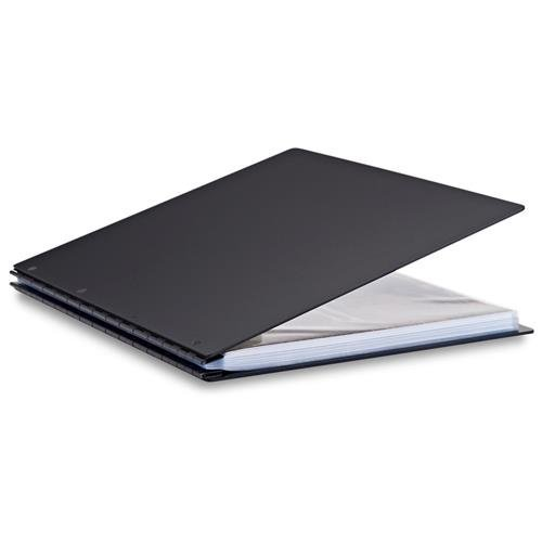 Pina Zangaro Vista 11x14 Portrait Screwpost Binder Onyx, Includes 20 Pro-Archive Sheet Protectors (34089)
