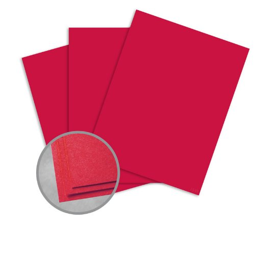 Astrobrights Re-Entry Red Card Stock - 8 1/2 x 11 in 80 lb Cover Smooth 30% Recycled 250 per Package 30% Recycled Re Entry