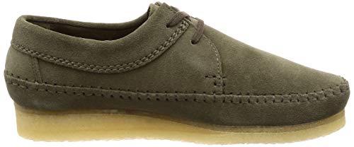 Zapatos Suede Weaver Hombre Vestir Clarks De Olive Para R45w50zq