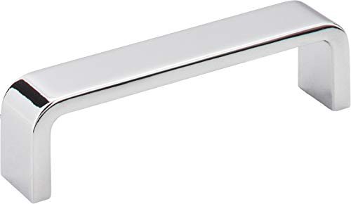 Elements 193-96PC Asher Collection 96mm Center Cabinet Pull, Polished Chrome Finish