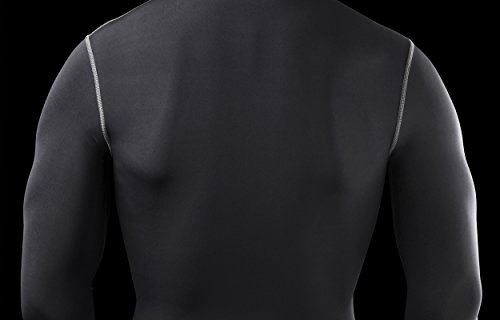 PowerLayer Men's Boys Compression Base Layer Top Long Sleeve Thermal Under Shirt -Black X Large by PowerLayer (Image #5)