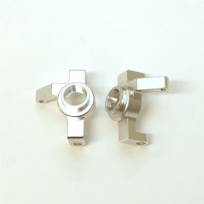 ST Racing Concepts STA31316V2S CNC Machined Aluminum HD 1 Piece Steering Knuckles (Ver.2) SMT10, RR10, Wraith, Silver