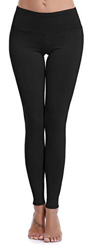 Aenlley Womens Athletic Yoga Pants with Hidden Pocket Workout Gym Spandex Tights Leggings Color Black Size L