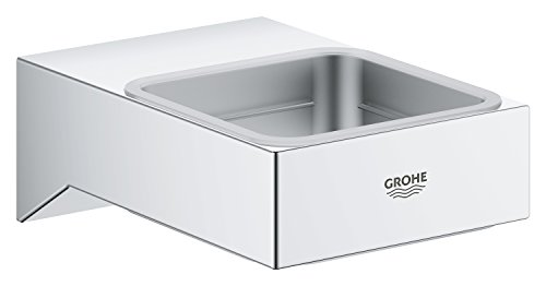 GROHE 40865000 Selection Cube Holder f.Glass/Dish/disp, Starlight Chrome by GROHE (Image #1)