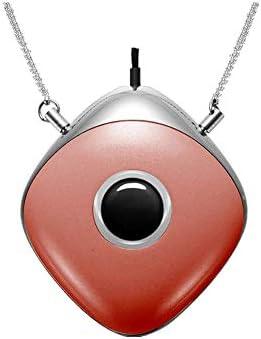 L@CR Ambientador de Aire Collar Personal, portátil USB usable cuelgan del Cuello de Carga purificador de Aire para niños y Adultos hogar y el Uso al Aire Libre,Rojo: Amazon.es: Hogar