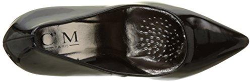 Escarpins noirs vernis à talons aiguille de 11,5cm bouts pointus