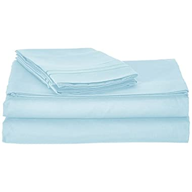 Clara Clark Supreme 1500 Collection 4pc Bed Sheet Set - King Size, Light Blue Aqua
