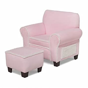 Delightful Newco Kids Harmony Kids Micro Club Chair And Ottoman, Pink