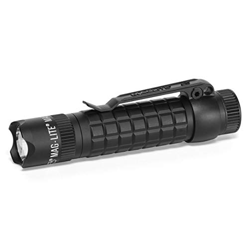 Maglite Mag-Tac LED 2-Cell CR123 Flashlight - Crowned-Bezel, Matte Black