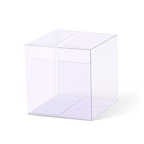 YOZATIA 25PCS Transparent Boxes 2.4 x 2.4 x 2.4 inch, Candy Box, Clear Favor Boxes Gift Boxes for Wedding, Party and Baby Shower Favors