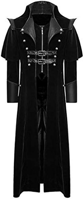 Rosennie płaszcz męski Frack kurtka gotycka kurtka Steampunk Vintage kurtka męska długi płaszcz Cosplay kostium spÓdnica uniform Praty Outwear, retro gotyk smoking trencz wiatrÓwka: Odzie