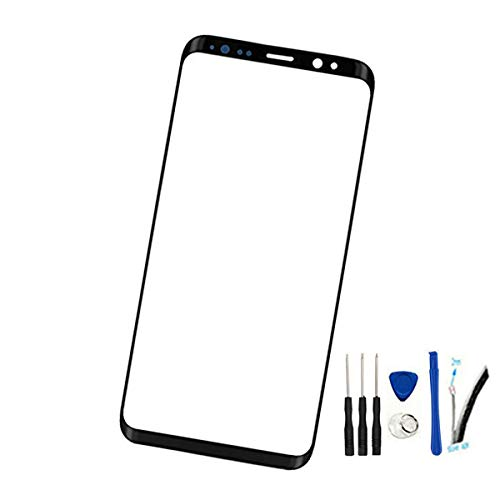6.2 Real Glass Front Screen Outer Lens Replacement for Galaxy S8 Plus &S8+ SM-G955 G955A G955FD G955U G955F All Carriers 100% Glass (Not LCD &Not digitizer) Black