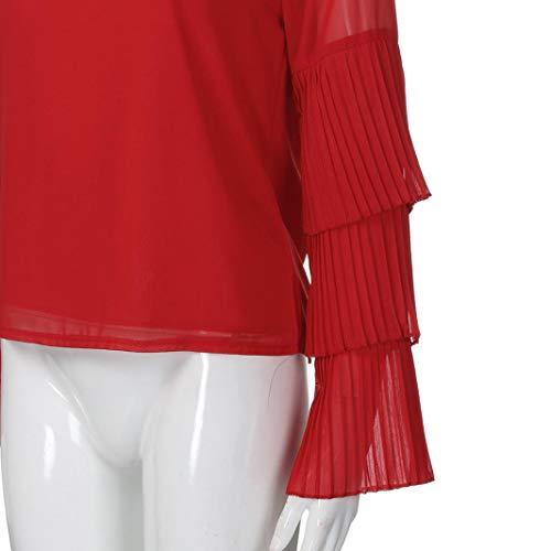 Capuche Femmes Top Sweat Capuche Longue Rouge Loose Shirt DContract Manche Shirt Vin YxrXzrqB