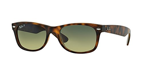 Ray Ban RB2132 894/76 55M Matte Havana/Blue/Green Polarized NEW - Ban Ray Green Matte Wayfarer