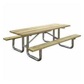 8' Rectangular Picnic Table, Wooden