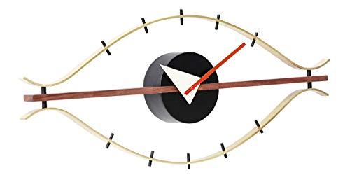 Artis Decor Eye Clock - Classic Mid-Century Modern Design Wall Clock Made with Walnut & ()