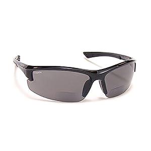 Coyote Eyewear BP-7 Polarized Reader Bifocal +2.00 Sunglasses, Black/Grey