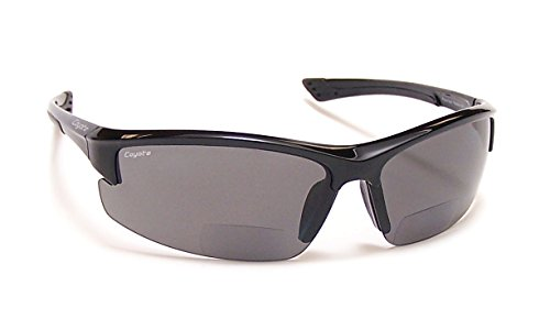 Coyote Eyewear BP-7 Polarized Reader Bifocal +1.50 Sunglasses, Black