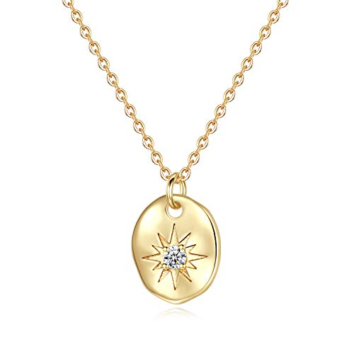 (Turandoss North Star Necklace for Women Gifts - Gold Plated Square North Star Pendant Sparkly Star Necklace Inspirational Gifts for Women Girls, Dainty Necklace for Her Unique Gifts for Women)