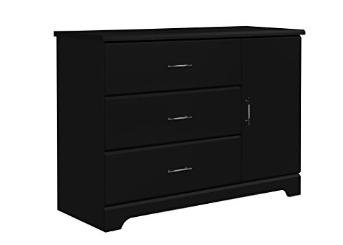 Frog 3 Piece Crib - Storkcraft Brookside 3 Drawer Combo Dresser, Black Kids Bedroom Dresser with 3 Drawers & 2 Shelves, Wood & Composite Construction, Ideal for Nursery, Toddlers Room, Kids Room