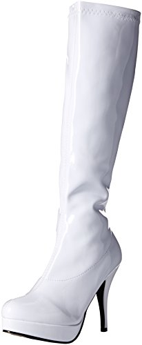 White Knee Boots (Ellie Shoes Women's 421-Groove Boot, White, 8 M US)