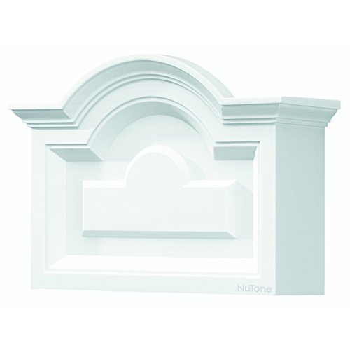 NuTone LA140WH Classic Arched Top Design Decorative Wired Two-Note Door Chime, White (Wired White Broan Chimes)