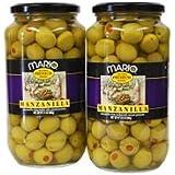 Mario Manzanilla Spanish Olives - 2/21 oz. jars