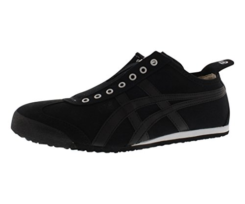 - Onitsuka Tiger Mexico 66 Slip-On Classic Running Shoe, Black/Black, 9.5 M US