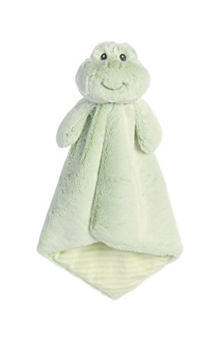 - ebba Plush Cuddler Luvster Blanket Farley Frog Toy, Green