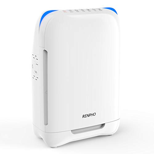 RENPHO Air Purifier for Home Large Room,HEPA Filter Air Purifiers for Allergies and Pets,Air Purifiers for Bedroom, Traps Allergens, Smoke, Odors, Mold, Dust, Germs, Pet Dander (Best Place For Air Purifier In Bedroom)