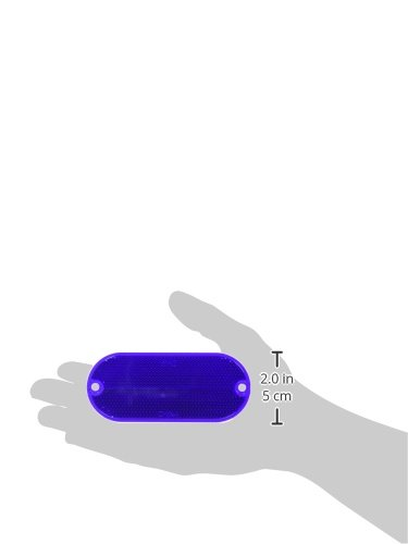 HY-KO PROD Oval Reflector, 2 Pack, 4-3/8'', Blue (CORB-7B) by HY-KO PROD (Image #2)