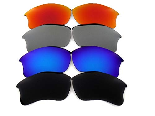 Galaxy Replacement Lenses For Oakley Flak Jacket XLJ 4 Pairs Polarized ()