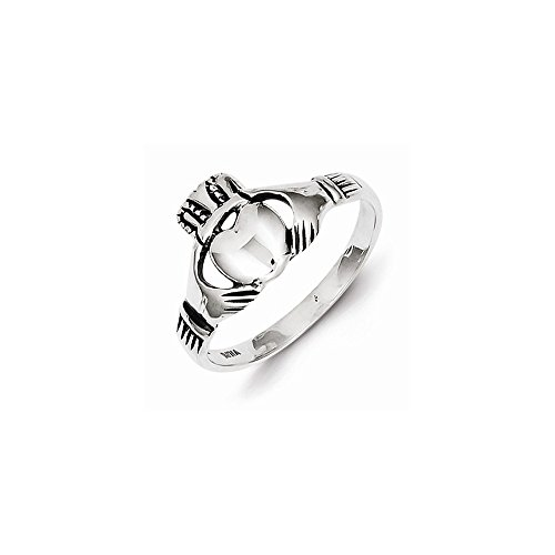 (Sterling Silver Antiqued Claddagh Ring)