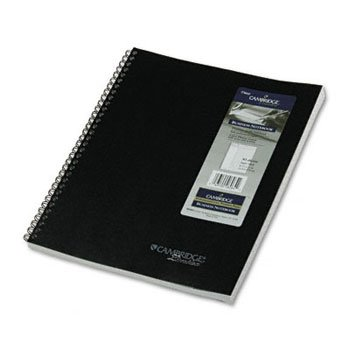 043100060642 - CAMBRIDGE LIMITED Wirebound Business Notebooks NOTEBOOK,PLANNER 20#,BK 400A (Pack of15) carousel main 0