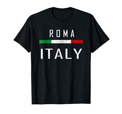 Roma Italia T Shirt Travel Souvenir Tee Italian Flag Shirt