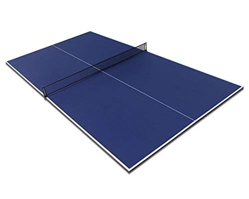 Fran_store 9ft Folding Full Size Table Tennis Table top with Net Blue for Billiard Tables