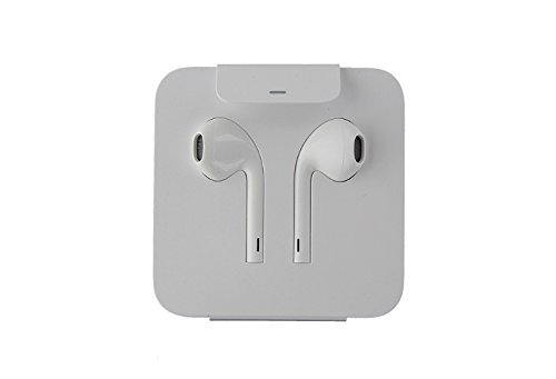 OEM Apple iPhone 7 Earpod Wired Headphones with Lightning Connector - White/MMTN2AM/A (Certified Refurbished)