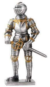 - YTC Pewter English Knight Statue Figurine Decoration