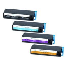 Series Printers C7500 (Toner Spot Remanufactured Full Color Set Toner Cartridges Replacement for Okidata C7100 C7200 C7300 C7350 C7400 C7500 C7550 Series (Black, Cyan, Magenta, Yellow))