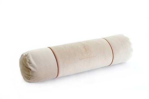 """Price comparison product image ALIBO Cervical Long Bolster Neck Pillow Cylinder Back Sleeper Bed Sleeping Pain Relief Round Roll Supports Leg Massage Pillow With Washable Pillowcase 22""""×5"""" Beige"""
