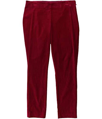 LAUREN RALPH LAUREN Womens Keslina Velvet Flat Front Skinny Pants Purple 8