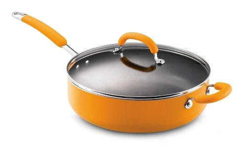 Rachael Ray Porcelain Enamel Nonstick 6-Quart Deep Saute Pan, Yellow