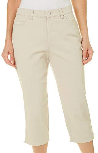 Gloria Vanderbilt Women's Amanda Capri Jeans, Pebblestone, (Gloria Vanderbilt Stretch Capris)