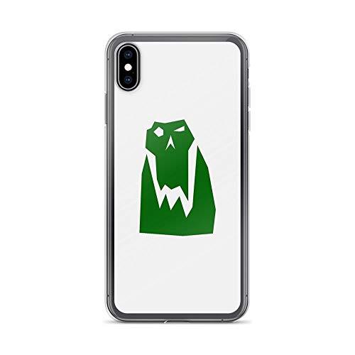iPhone Xs Max Case Clear Anti-Scratch Orc Head (Green), orc Cover Phone Cases for iPhone Xs Max, Crystal Clear -
